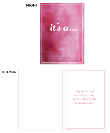 greeting card - it's a . . . by lulablu