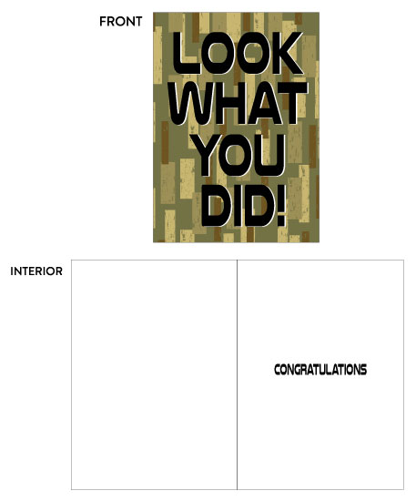 greeting card - Congratulations Look What You Did by Kate Pitner