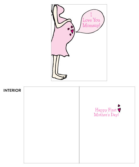 greeting card - Happy First Mother's Day by Oh So Smitten