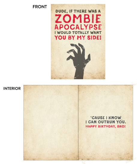 greeting card - zombie apocalypse by Susan Asbill