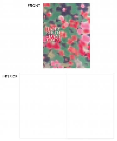 greeting card - pixel birthday by lulablu