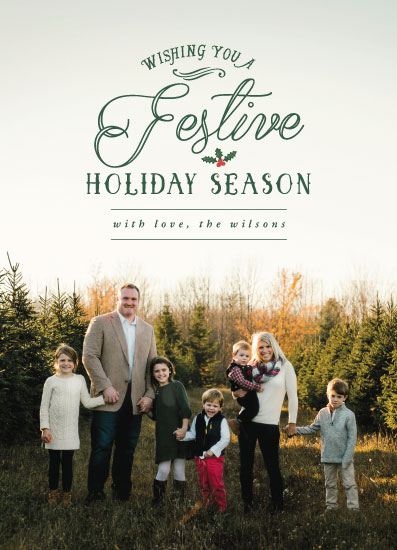 holiday photo cards - Festive Holiday by Mabe Design Co.