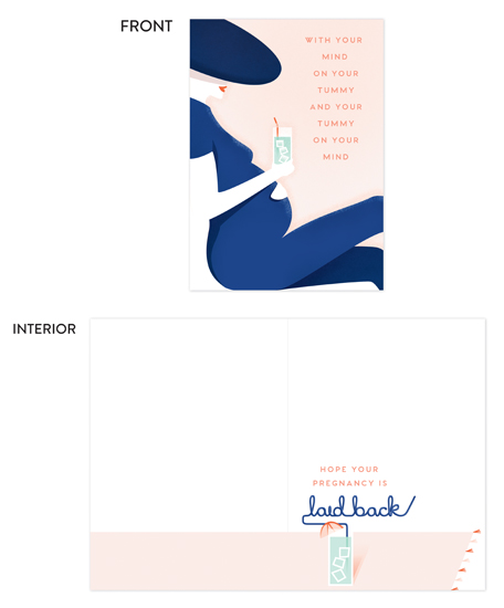 greeting card - Laid Back by Kelsey Mucci