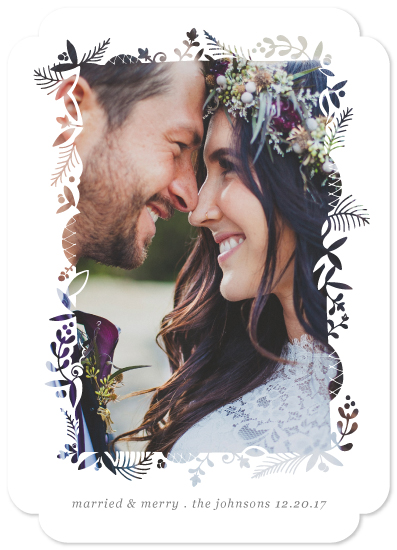 holiday photo cards - Foliage Cutout Frame by Becky Nimoy