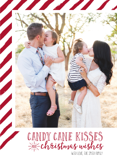 holiday photo cards - Candy Cane Kisses by Ashley Konzen