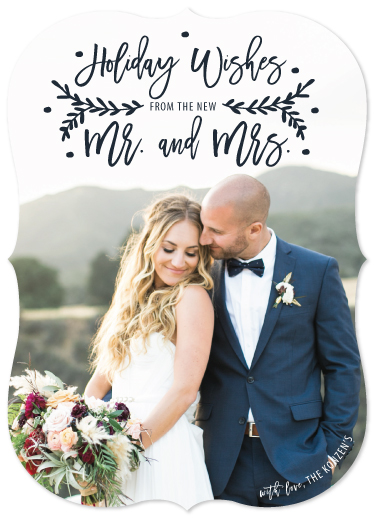 holiday photo cards - Newly Wed Holiday Wishes by Ashley Konzen