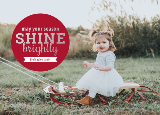 holiday photo cards - Simple Circle by Ashley Konzen