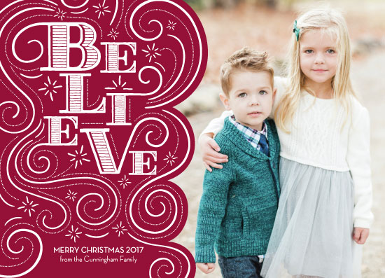 holiday photo cards - Believe by Lauren M Design