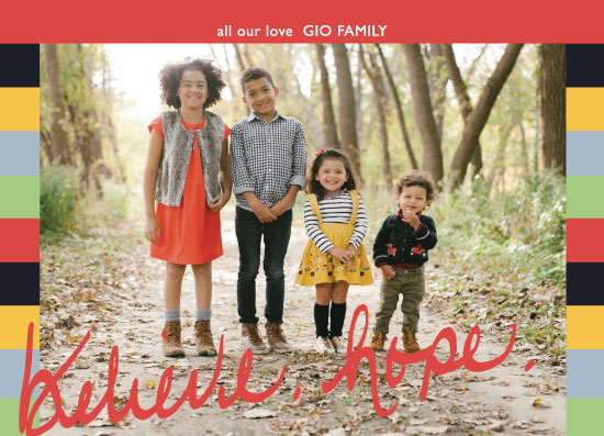 holiday photo cards - believe. hope. by Amy Estrada