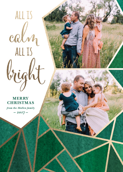 holiday photo cards - Emerald Christmas by Jenna Pellman Design
