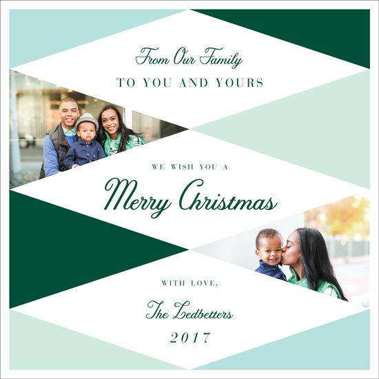 holiday photo cards - Holiday Diamonds by Nibby Press