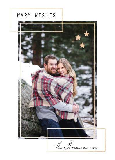holiday photo cards - Warm Wishes simple elegant by Julia Khimich
