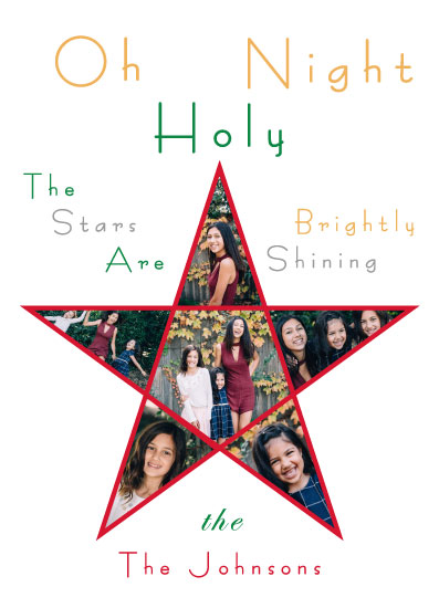 holiday photo cards - Oh Holy Night by Cheryl Rench Powell