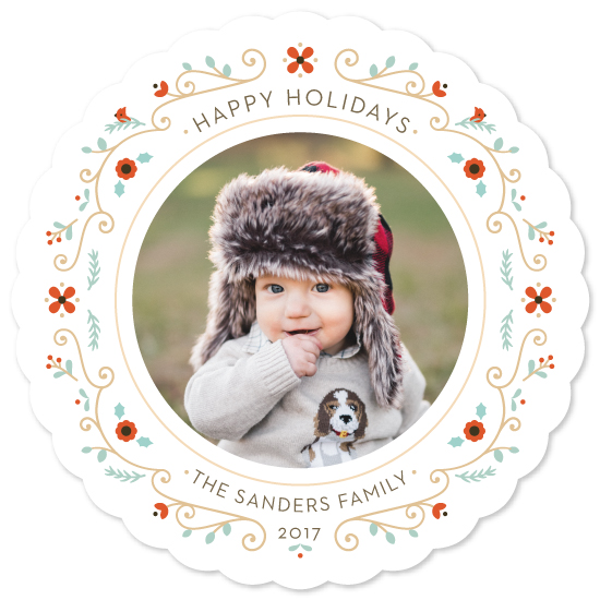 holiday photo cards - Petite Wreath by Lawren Ussery