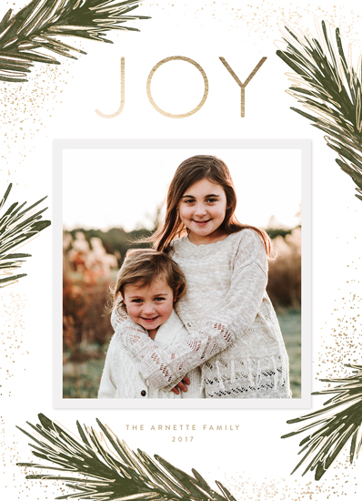 holiday photo cards - Gilded Branches by Melanie Severin