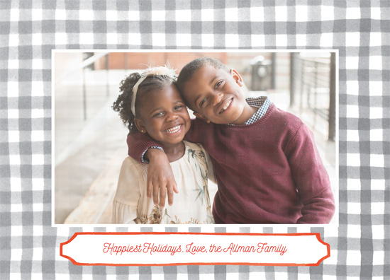 holiday photo cards - Painted Gingham by Jennifer Allevato