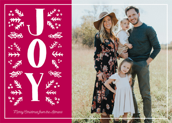 holiday photo cards - Painted Big Joy by Jennifer Allevato