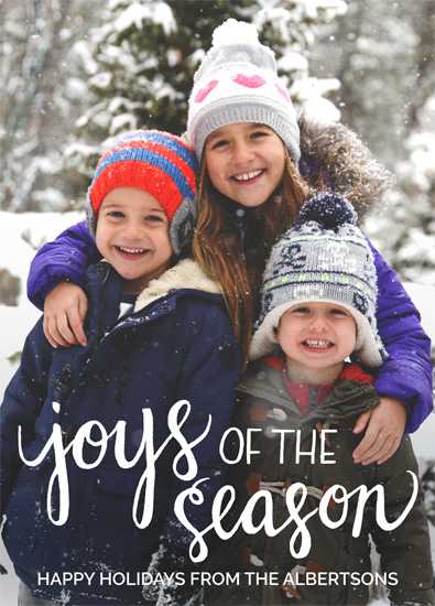 holiday photo cards - Seasonal Joys by Jennifer Allevato