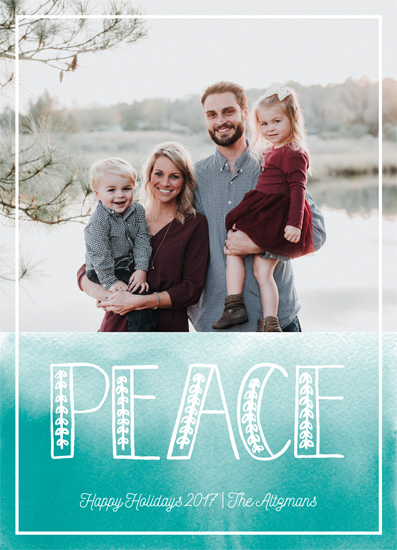 holiday photo cards - Peace wash by Jennifer Allevato