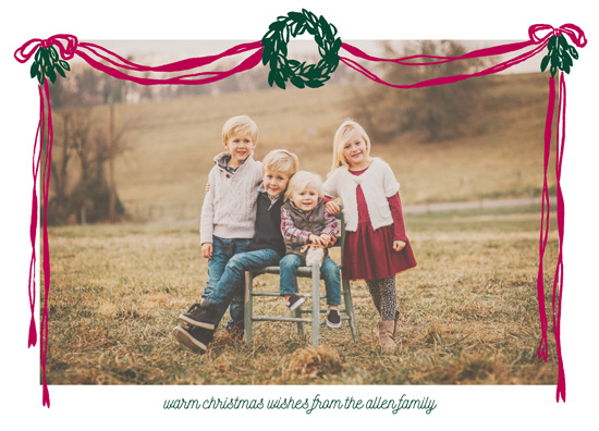 holiday photo cards - Draped Wreaths by Jennifer Allevato
