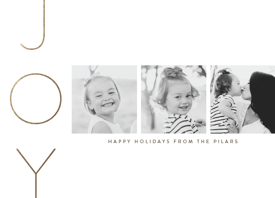 holiday photo cards - Joy Made Elegant by Up Up Creative