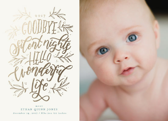 holiday photo cards - Goodbye Silent Nights by Grace Kreinbrink