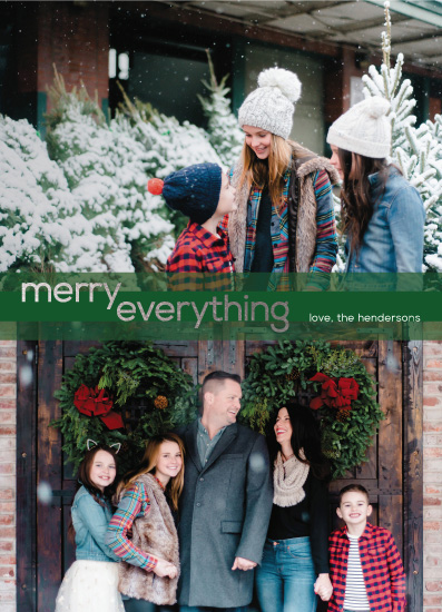 holiday photo cards - Green Striped Merry Everything! by Christy Sawyer