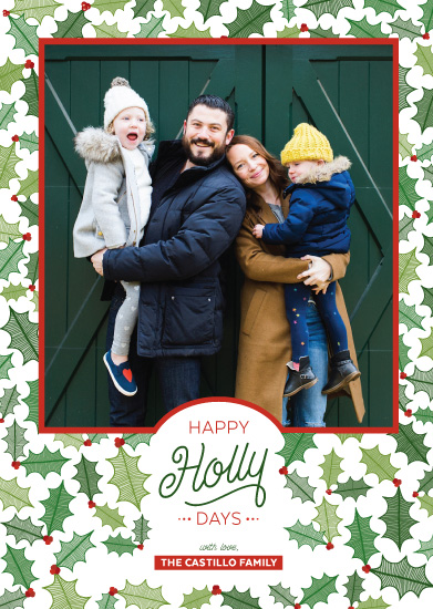 holiday photo cards - Happy HollyDays by Paper Route Studio