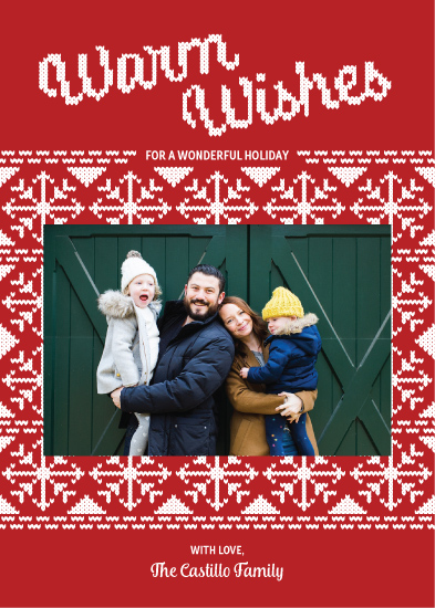 holiday photo cards - Wooly Warm Wishes by Paper Route Studio