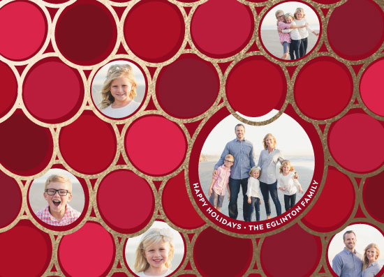 holiday photo cards - Holiday Circles by Paul Denhoed