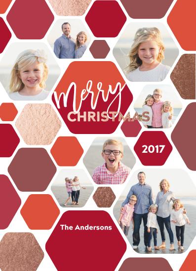 holiday photo cards - Hexagonal Christmas by Paul Denhoed
