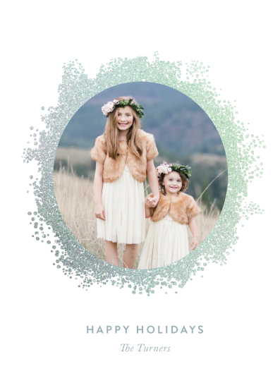 holiday photo cards - Shimmering Wreath by Chryssi Tsoupanarias