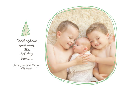 holiday photo cards - Doodle Christmas by Rose Pajaroja