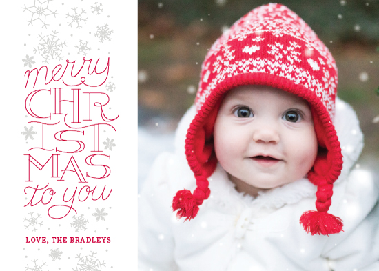 holiday photo cards - Christmas Lettering by Sarah Brown