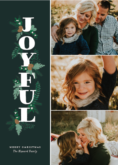 holiday photo cards - Joyful Stack by Sarah Guse Brown