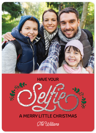 holiday photo cards - Selfie Christmas by Maria Watkins