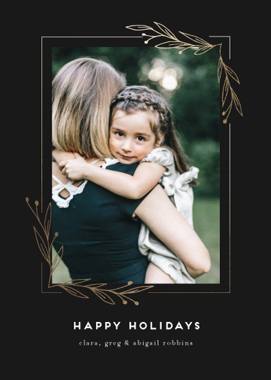 holiday photo cards - Adorned Corners by Amy Kross