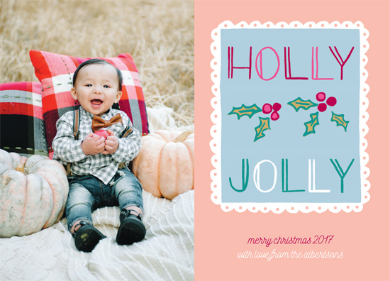 holiday photo cards - Holly Jolly Stamp by Jennifer Allevato