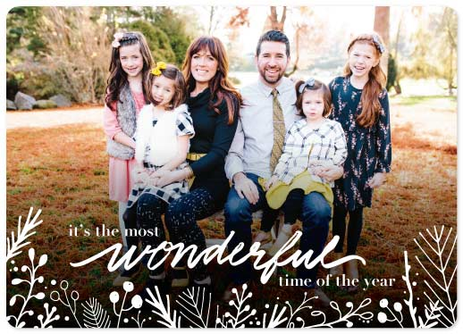 holiday photo cards - Handwritten Wonderful in White by Cassandra Yzaguirre