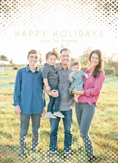 holiday photo cards - Diamond Covered Happy Holidays by Christy Sawyer