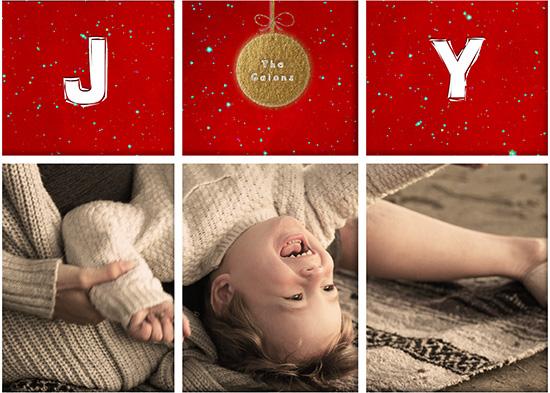 holiday photo cards - Precious Joy by elen gaion