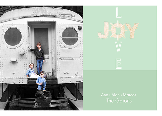 holiday photo cards - Caring Joy by elen gaion