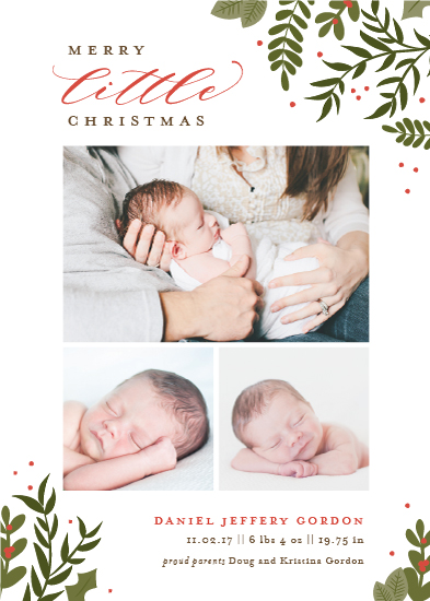 holiday photo cards - Littlest Christmas by Sarah Brown