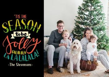 Lettering Holiday Family Card