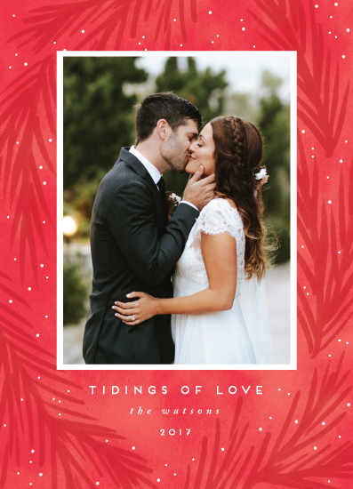 holiday photo cards - tidings of love by Angela Garrick