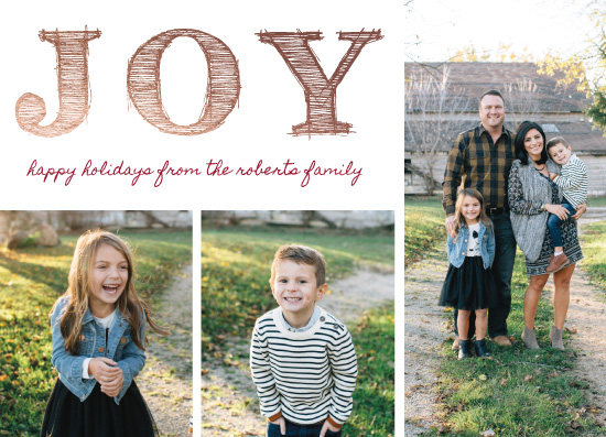 holiday photo cards - triple joy by leggs and foster