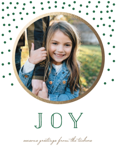 holiday photo cards - golden joy by leggs and foster