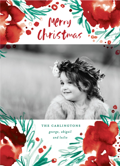 holiday photo cards - Lacy Watercolor by Simona Camp
