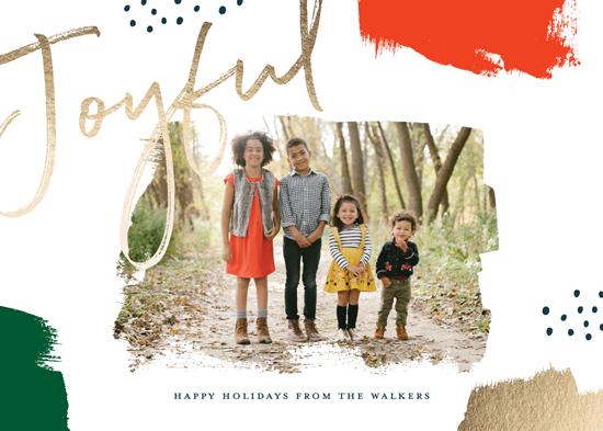 holiday photo cards - Brushes by Oscar & Emma