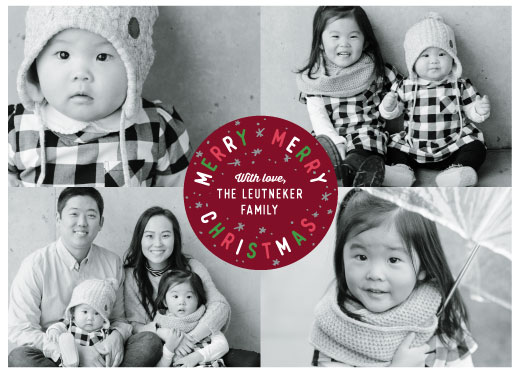 holiday photo cards - Holiday Spirit Seal by Abby Munn